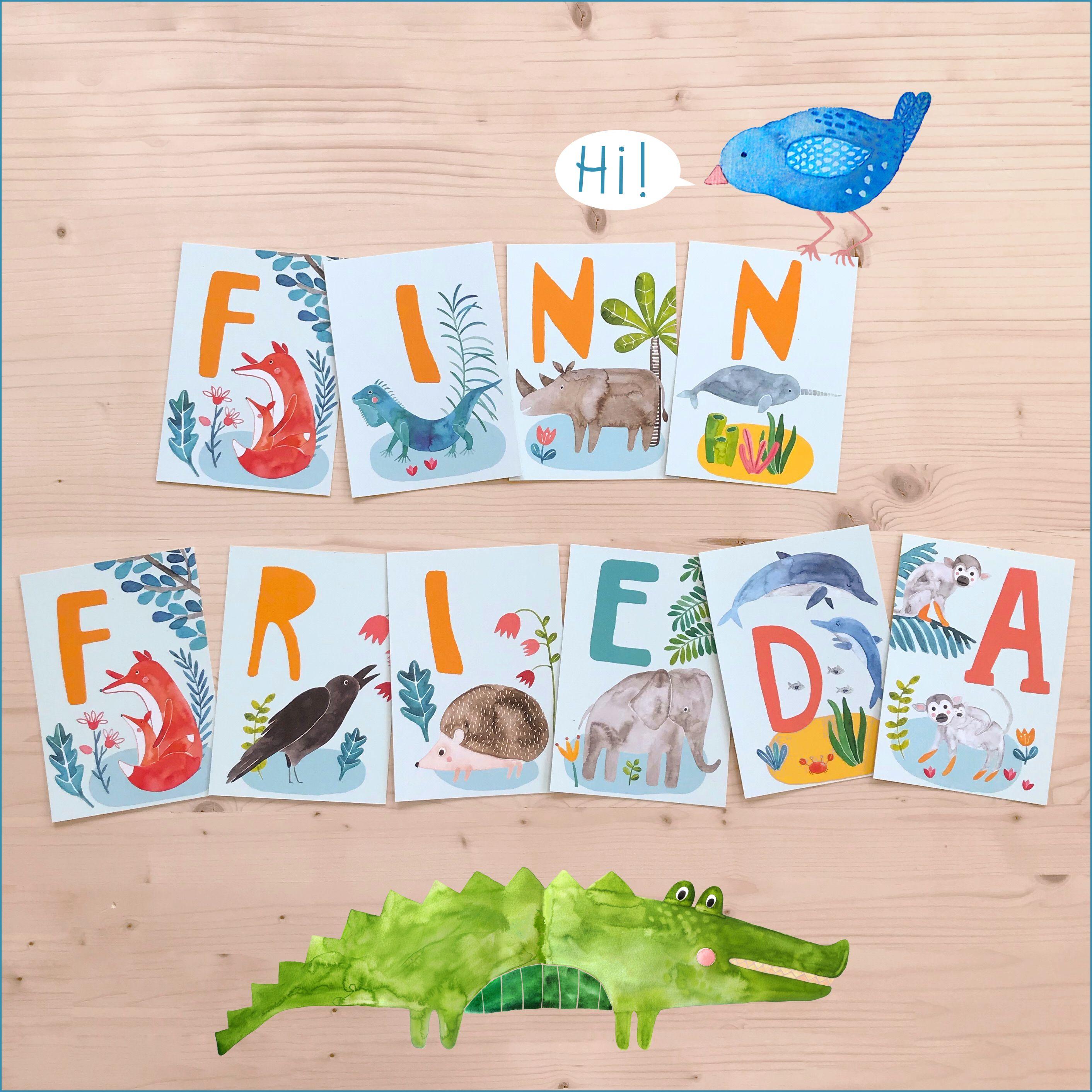 Abc Karten Finn Frieda In 2020 Abc Karten Abc Der Tiere