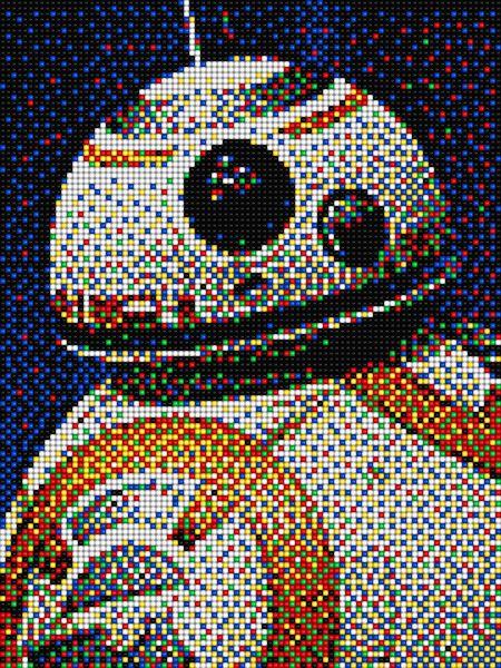 Bb8 Star Wars With Pixel Art Quercetti Pixel Art Pattern Pixel Art Minecraft Art