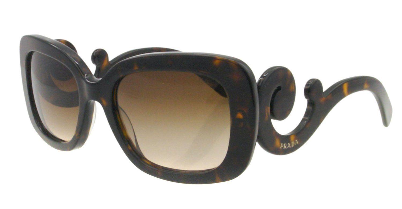 fe32e71469ac Prada Baroque Square Sunglasses in Havana PR 27OS 2AU6S1 54