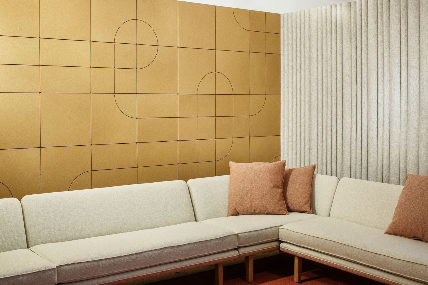 Rockwell Unscripted Lounge Seating with FilzFelt Acoustic Wall ...