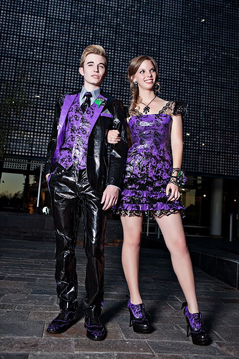 2012 Stuck at Prom finalist Lara & Cole - duct tape prom   Just duck ...
