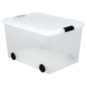 Walmart Iris Clear Storage Box With Wheels Irs103051 Storage Bins With Wheels Plastic Container Storage Plastic Storage Bins