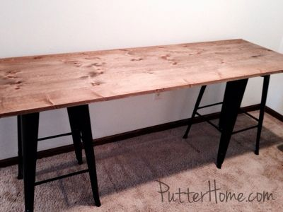 putter home simple cheap diy industrial rustic desk