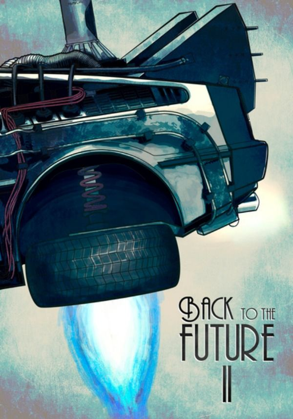 Back to the Future 1 2 3 Movie Art Deco Poster Wall Fabric Canvas 1582