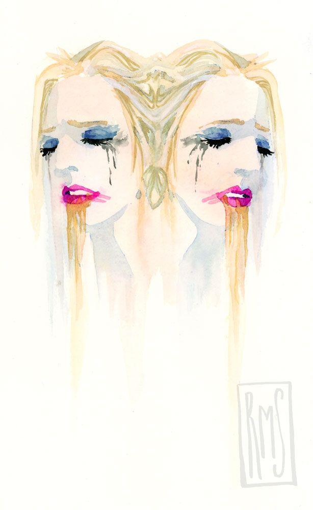 Watercolor by Rachel M Silva. Follow on instagram: missrachelsilva
