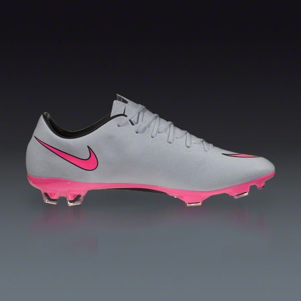 new style 47383 61bd6 Nike Mercurial Vapor X FG - Grey Hyper Pink Black Black - Silver Storm Firm  Ground Soccer Shoes   SOCCER.COM