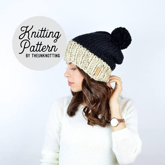 PATTERN // The Sol Duc Hat // Chunky Knit Beanie Pattern | Products ...