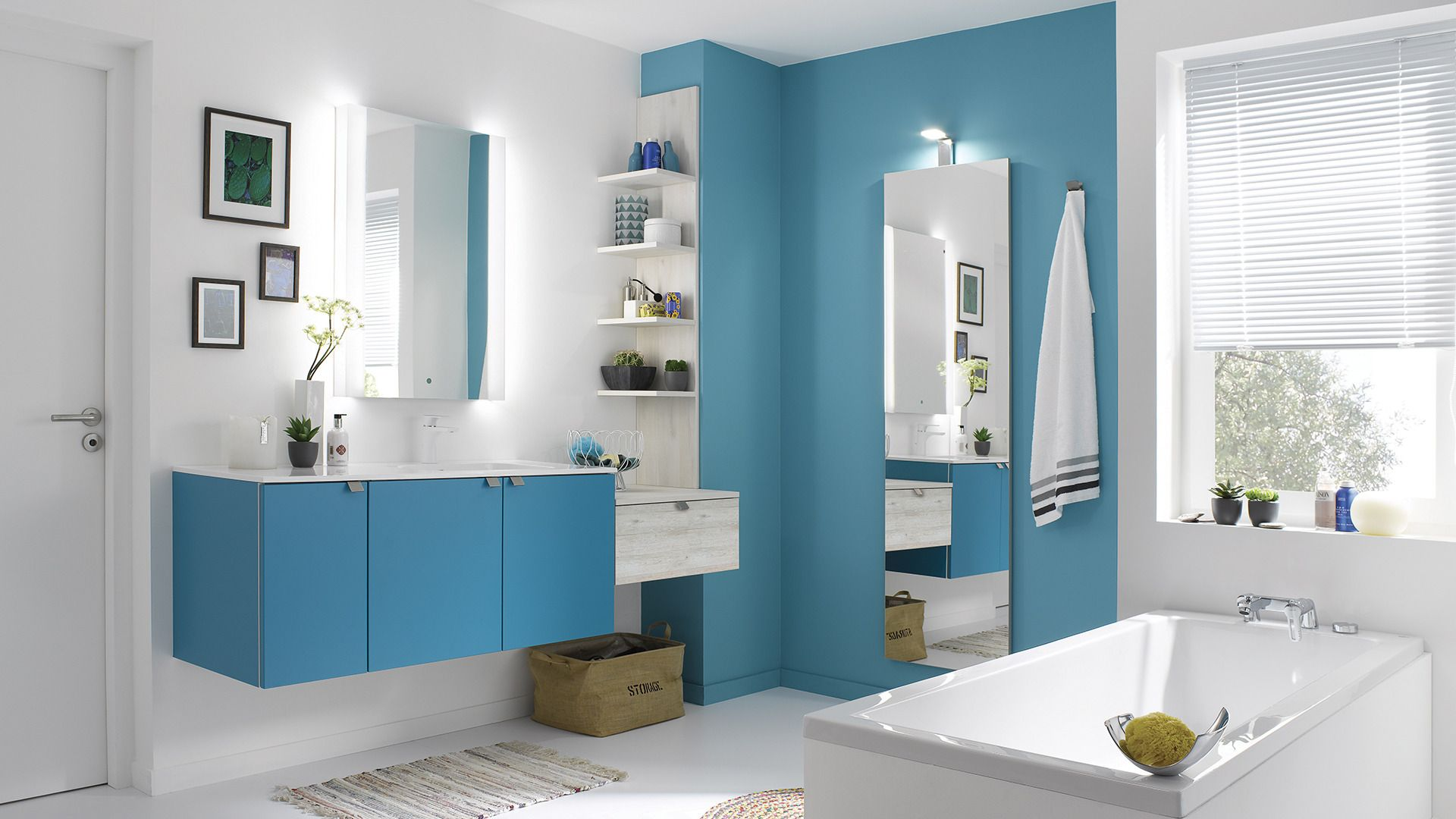 salle de bain color meuble de salle de bains cuisinella