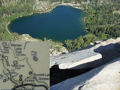 North of Donner Summit: Various trails lead to Frog Lake Overlook