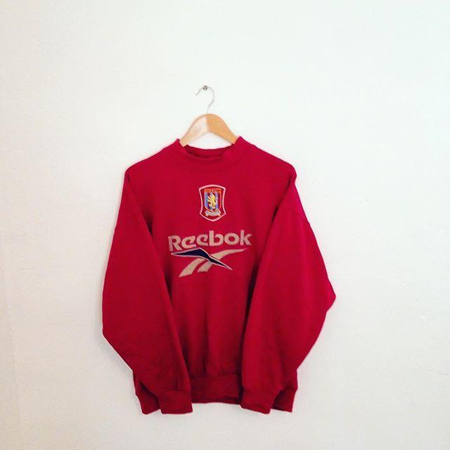 An amazing vintage 90s reebok Aston villa sweatshirt jumper