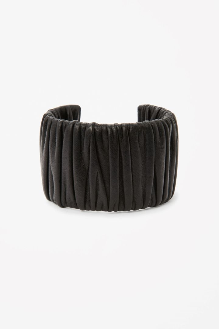 COS   Rouched leather bangle