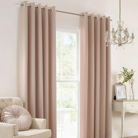 Karissa Champagne Thermal Eyelet Curtains Curtains Living Room