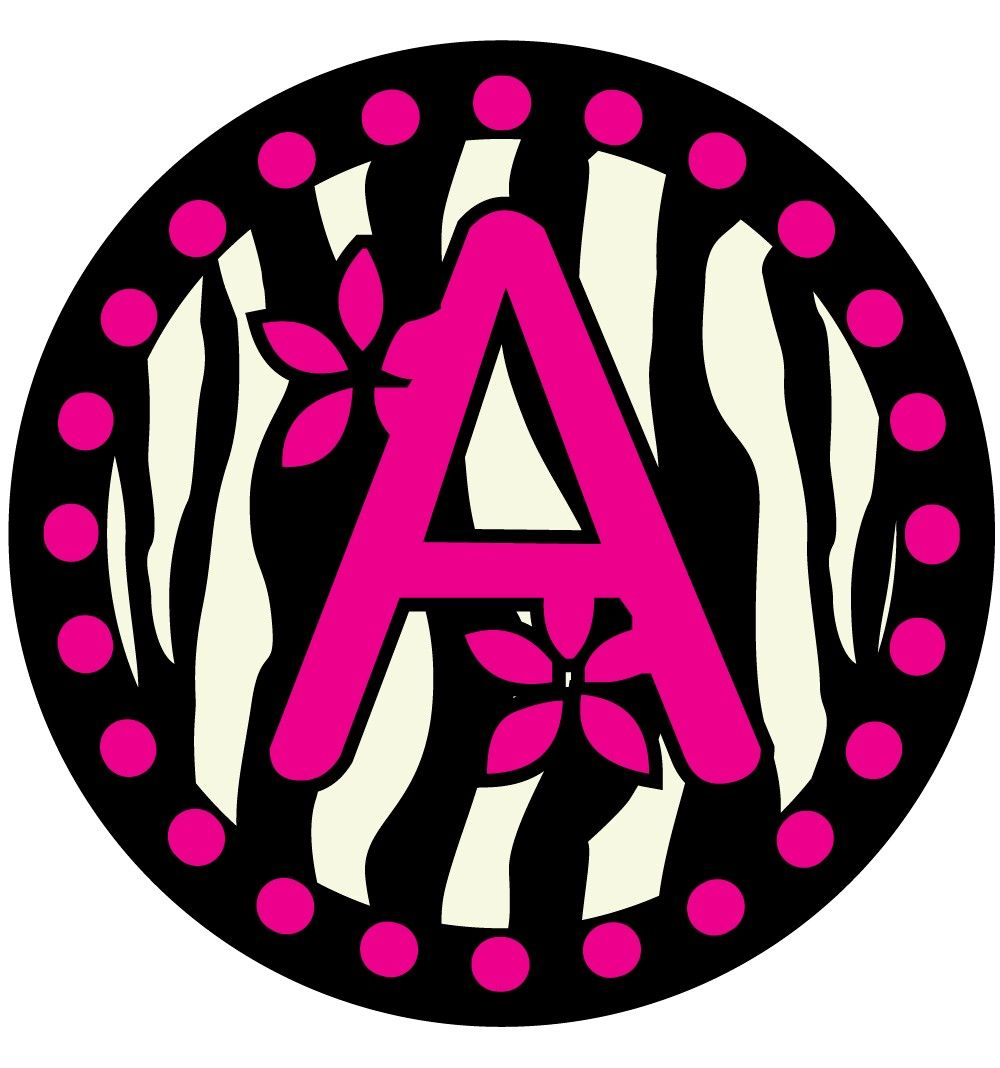 Zebra Print Printable Bubble Letters | Creativeletter.co