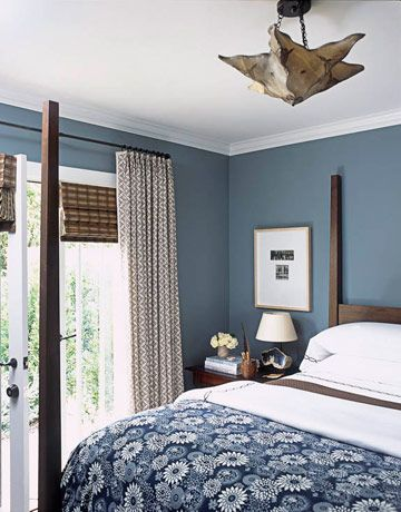 Charming The Blue Print Coverlet Is From Urban Outfitters. Walls Are Painted Blue  Slate By Pratt U0026 Lambert. Curtains Are Arts Decoratif By Le Gracieux.