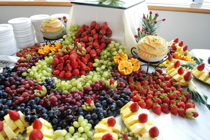 Designed Tables Pictures Buffet Food Fruit Buffet Juicy Fruit