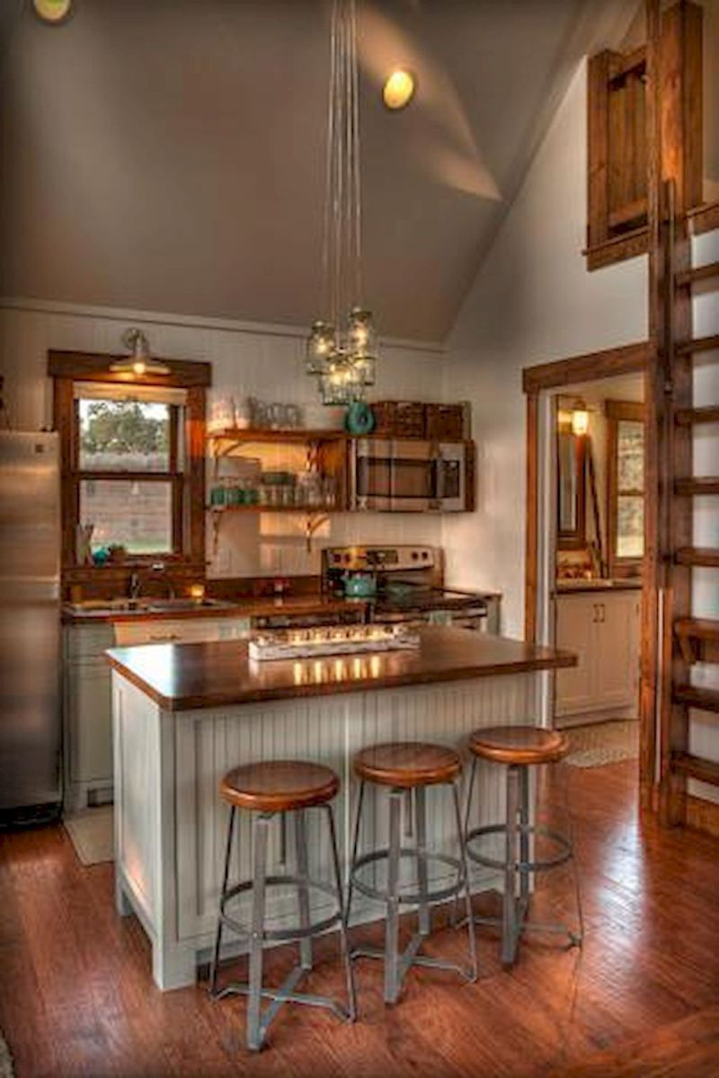 52 Awesome Tiny House Small Kitchen Ideas Page 23 Of 52 Small House Kitchen Ideas Tiny House Kitchen Small Cottage Kitchen