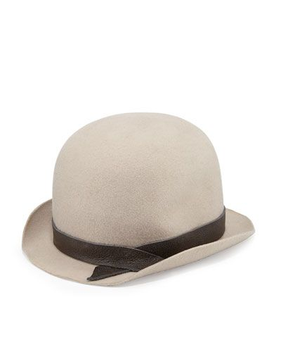 0066ea6d3aa USD 675 NOW  USD 236 Extra 25% Off  USD 177 D0QYG Brunello Cucinelli Felted  Wool Bowler Hat