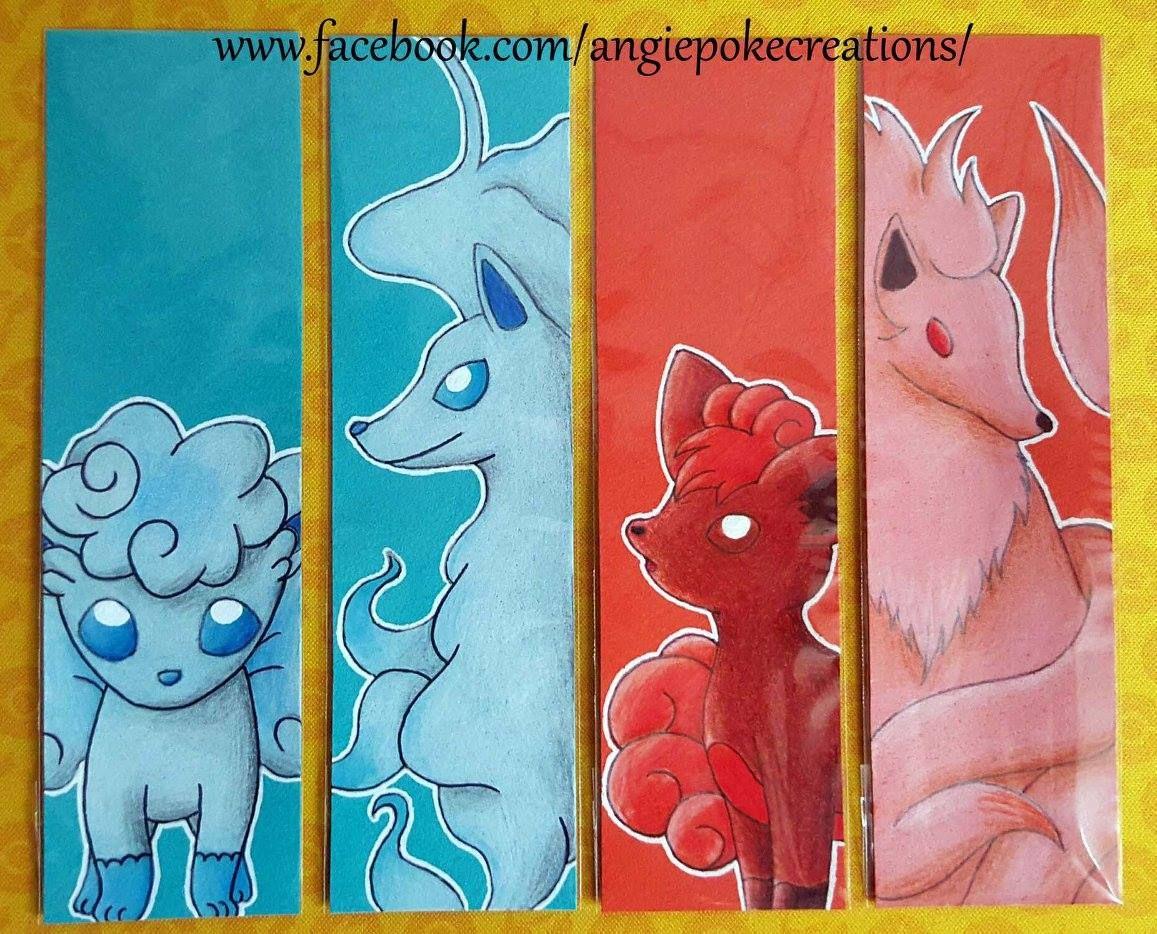 Marque Pages Pokemon Dessin Crayons De Couleur Goupix Et Feunard Avec Les Versions Alola Dessin Crayon De Couleur Dessin Pokemon Dessin