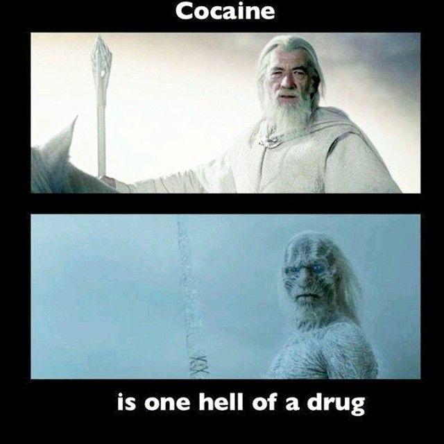 He wasn't called Gandalf the White for nothing! #cocaine #lotr #gandalf #got #lordoftherings #gameofthrones #Whitewalkers #davechappelle #chappelleshow #charliemurphy #instafunny #hahaha #funny #meme #nerdlife #nerdhumor #nerdlifenation #nerdy #tattoos #tattoo #tattooedgirl #girlswithshavedheads #savage #nochill