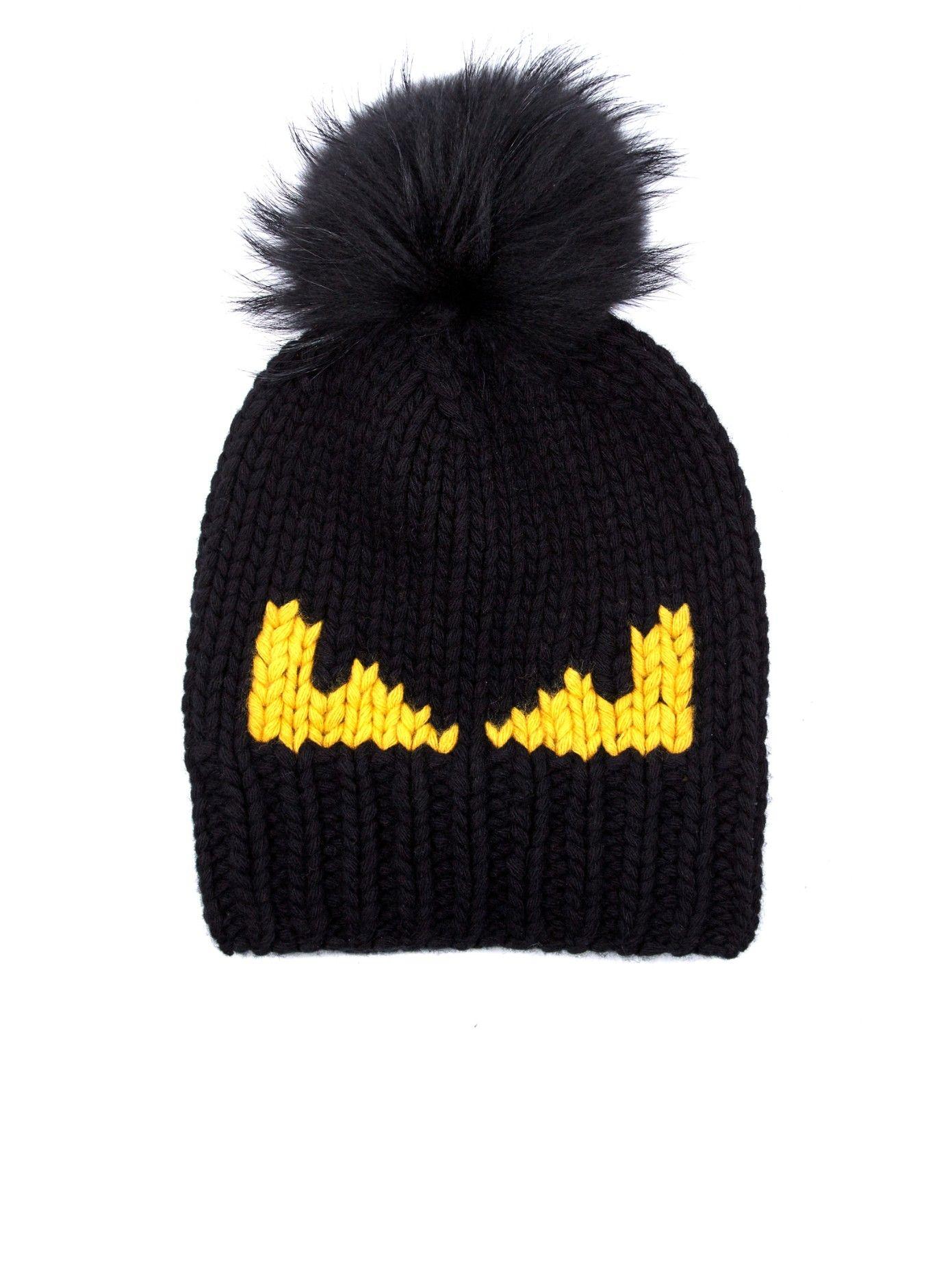 4e44cc55965 Monster-intarsia wool-knit beanie hat