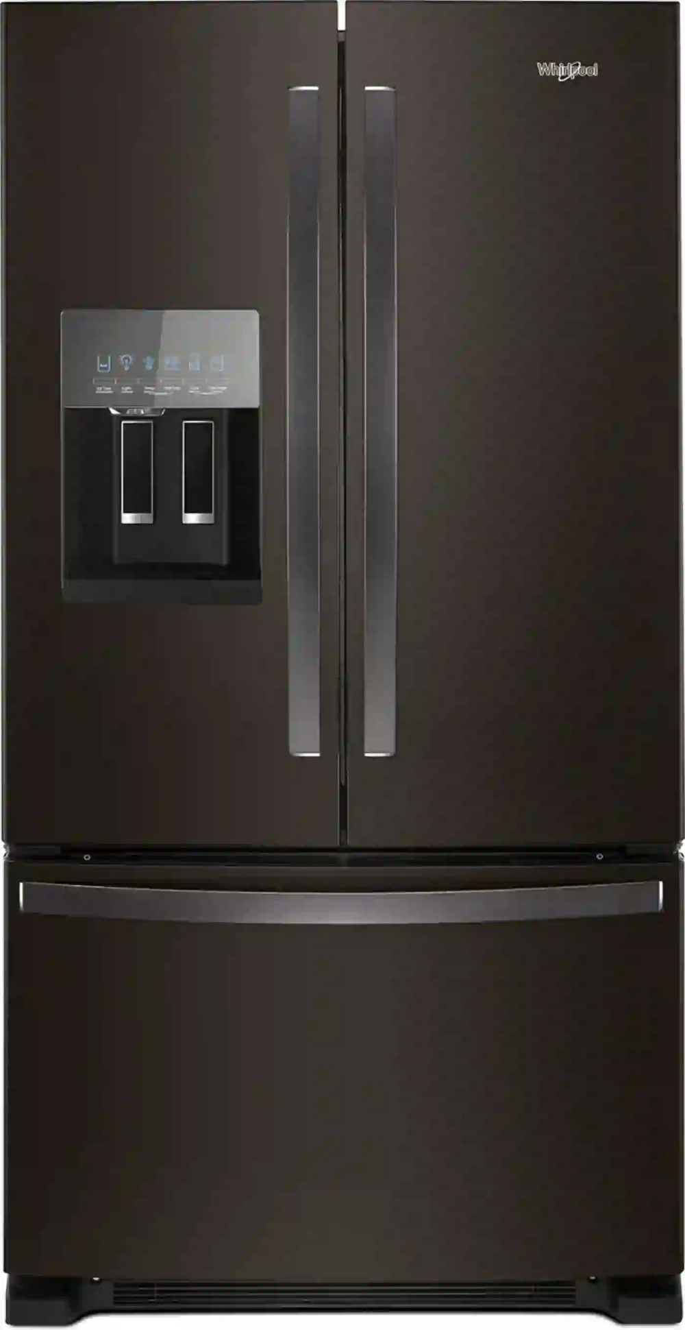 Whirlpool 25 Cu Ft French Door Refrigerator In Fingerprint