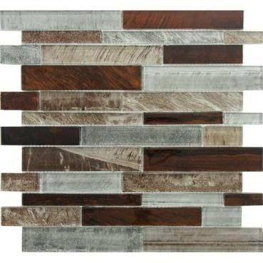 Grey Backsplash Tile brown and grey backsplash tile - gotta try and make the brown