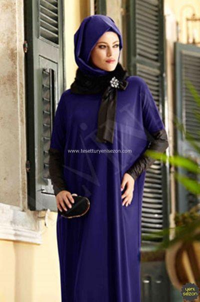 Alvina Mavi Elbise 2015 Giyim Moda Stilleri Uzun Elbise