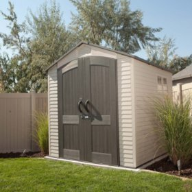 7 X 7 Lifetime Outdoor Storage Shed Sam S Club In 2020 Outdoor Storage Sheds Plastic Storage Sheds Plastic Sheds