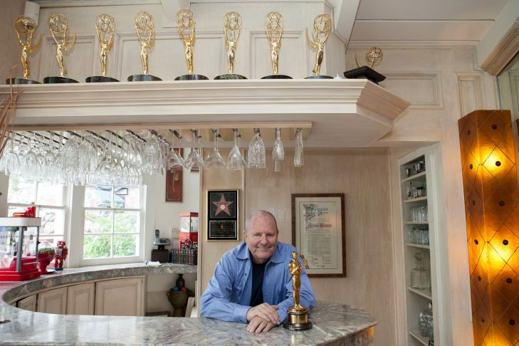 """Michael Westmore and his Oscar for """"Mask"""" (1985). And look at all those Emmys and Golden Globes."""