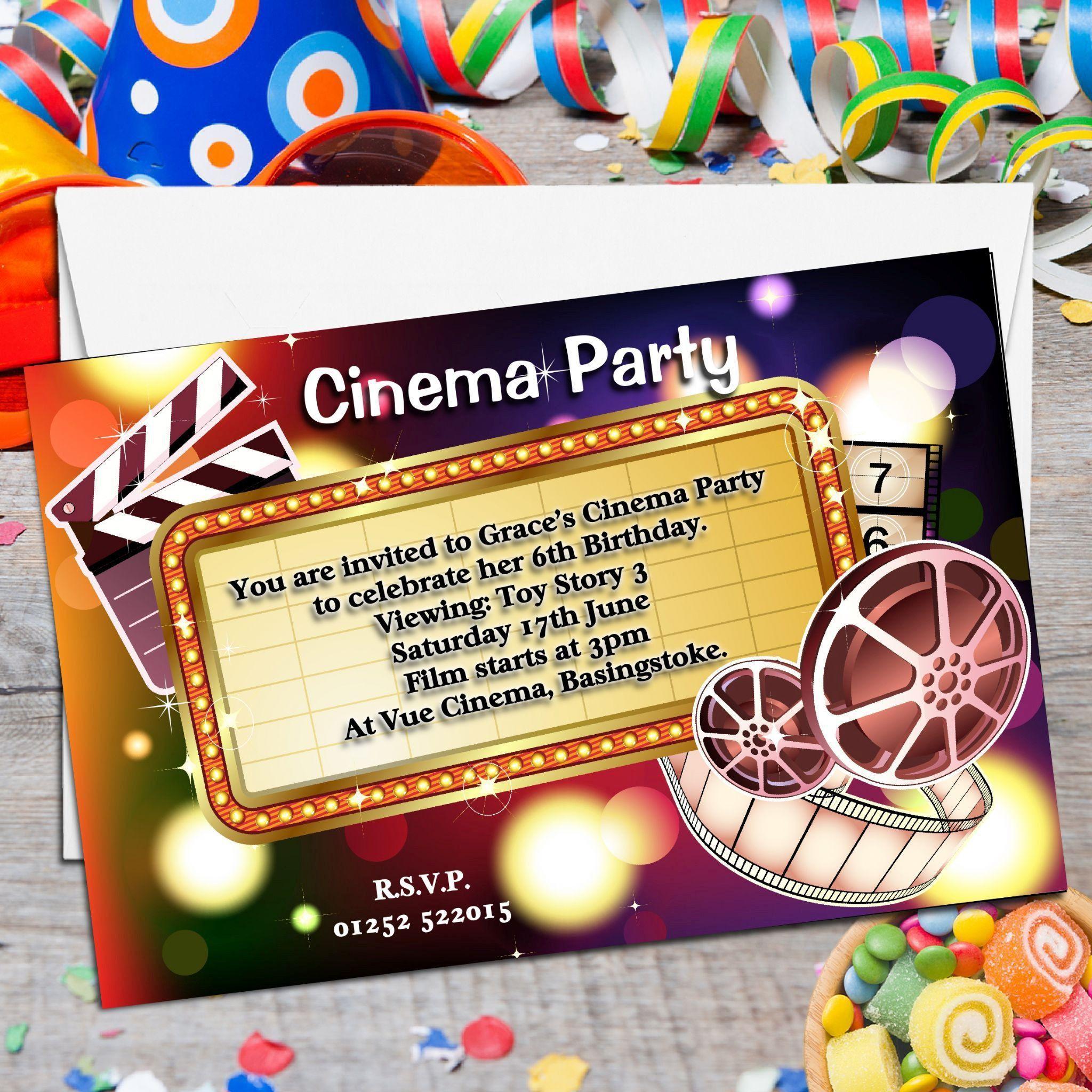 Kindergeburtstag Kino Einladung Kostenloskindergeburtstag Kino