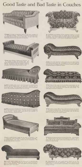 The Ladies' Home Journal, 1907  ~  if you prefer the couches on the right, you have bad taste