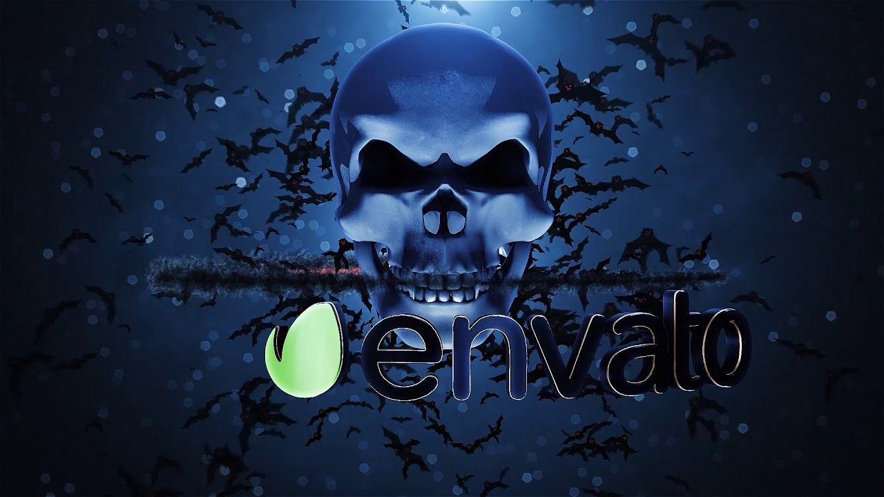 Download Free After Effects templates Skull Logo