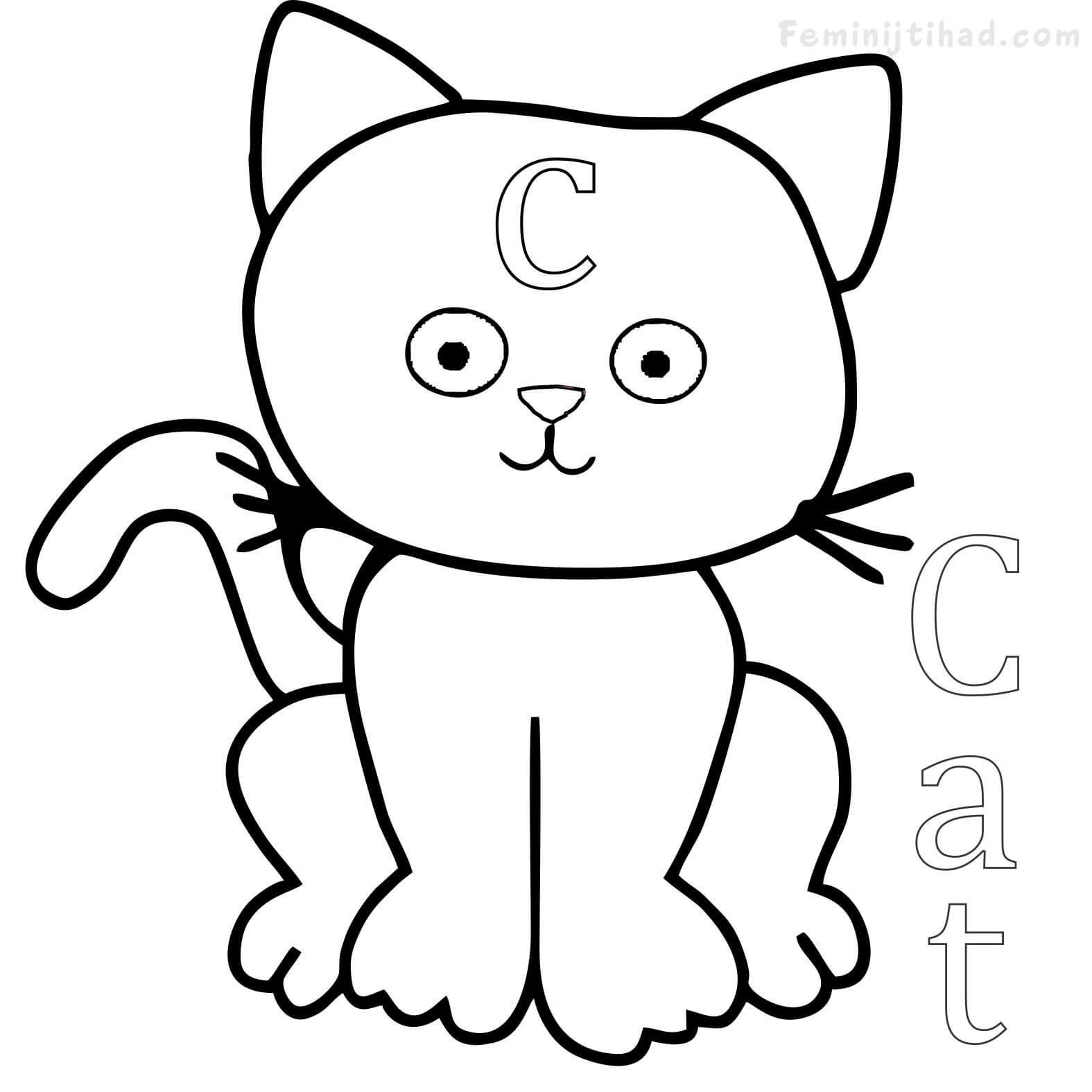 50+ Cute cat coloring pages printable information