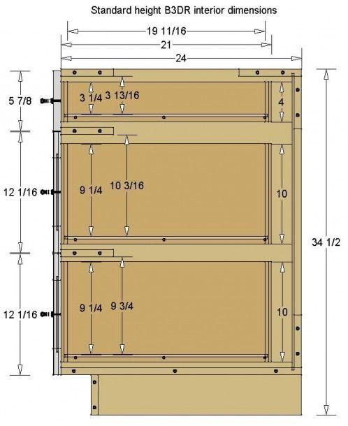 3 Drawer Kitchen Base Cabinet in 2020   Building kitchen ...
