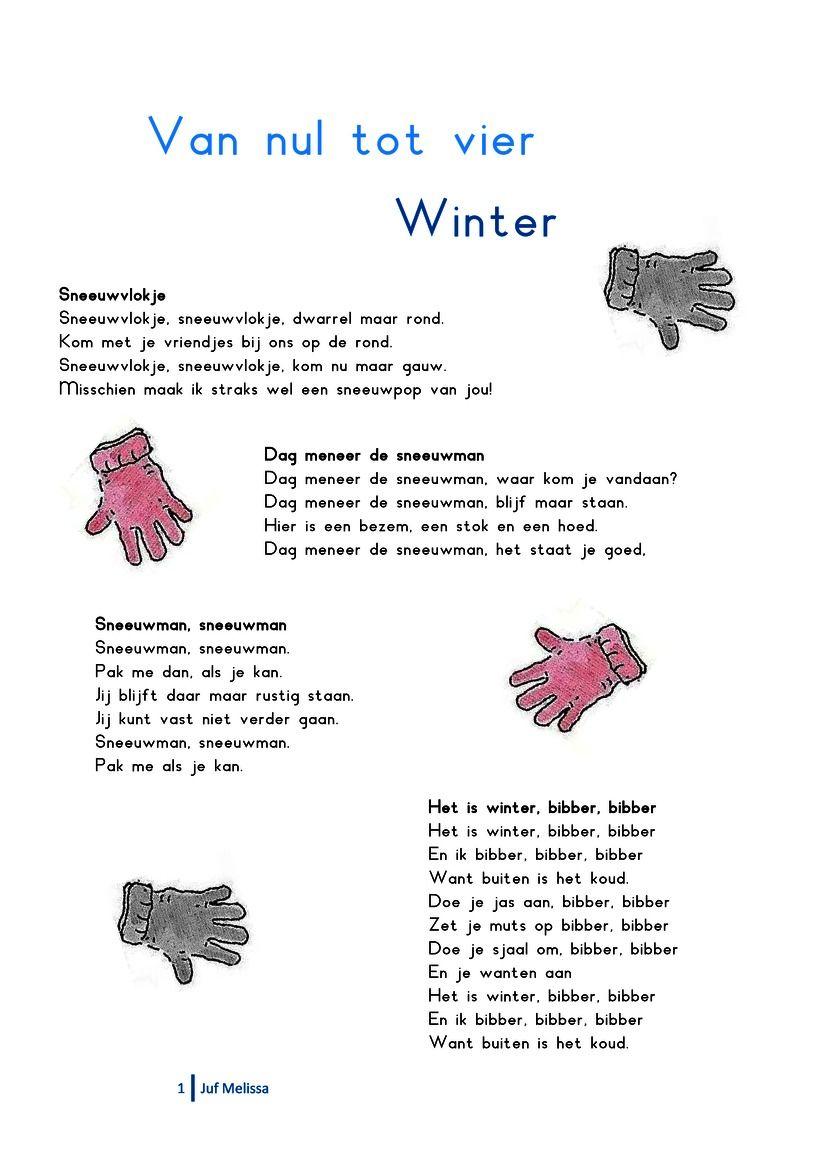 Liedjespagina: Winter #themawinterpeuters