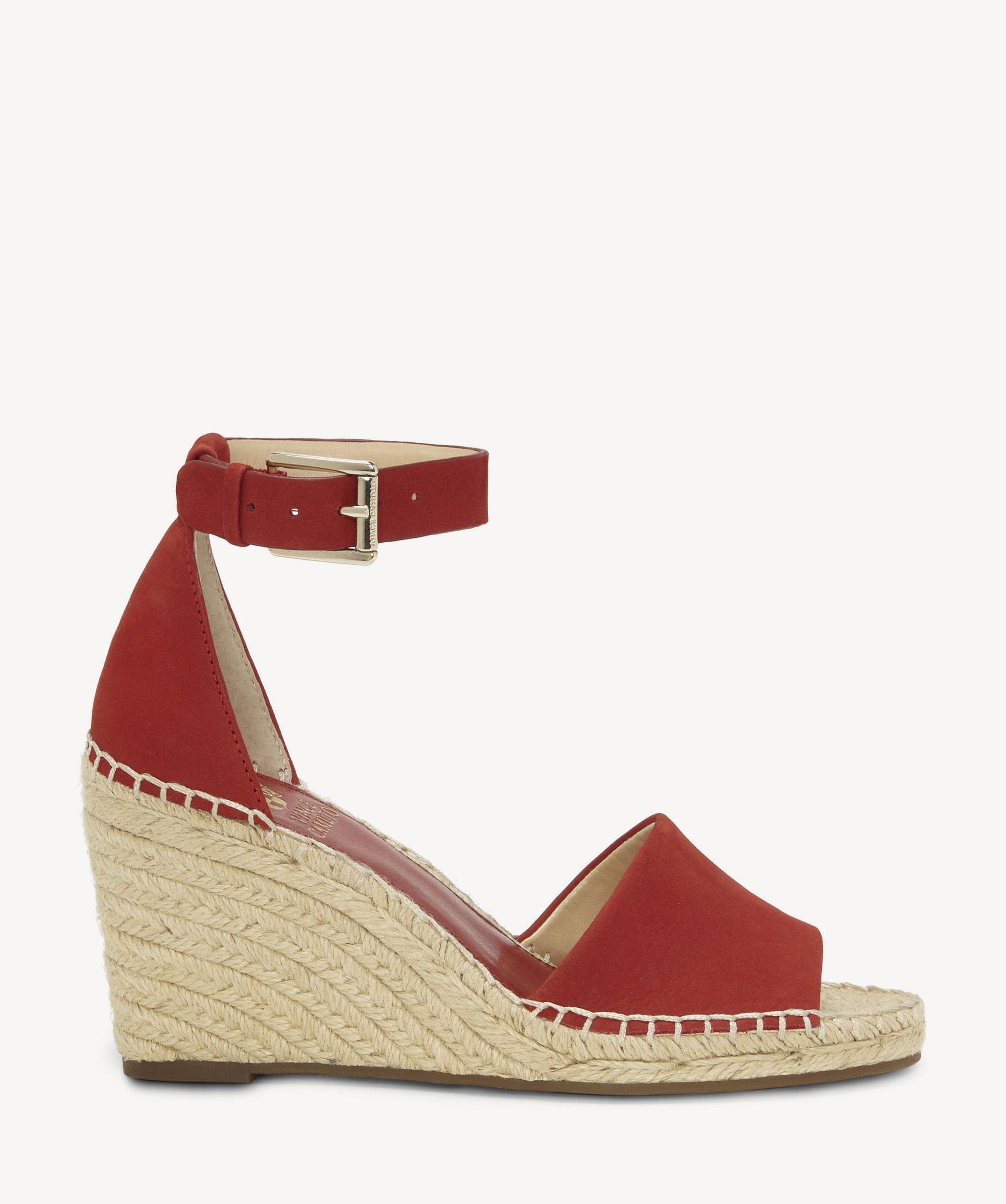 ae7d6ac272 Vince Camuto Leera Espadrille Wedges Cherry Red | Size 8.5 Leather From  Sole Society