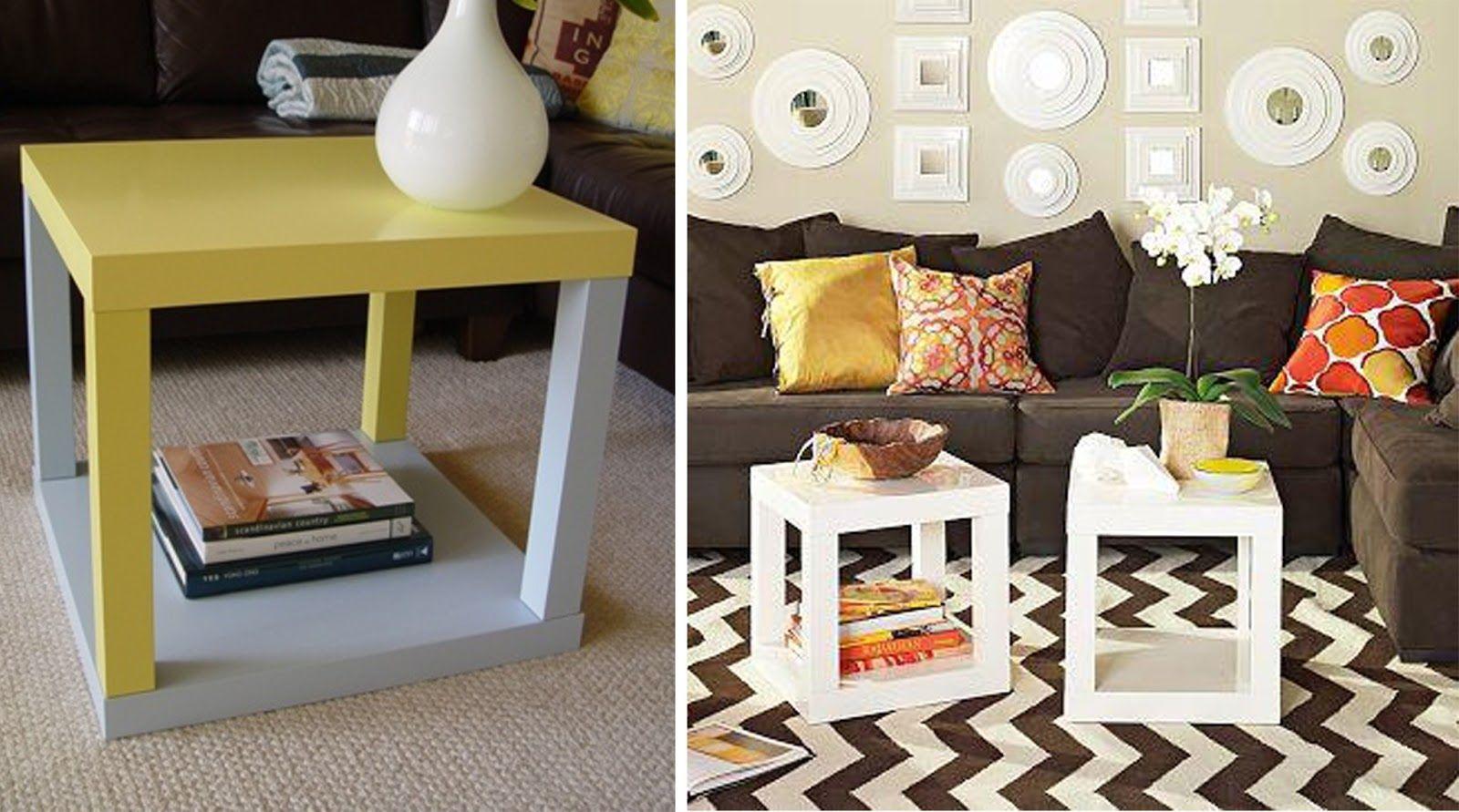 Ikea Hacker - Decora tu mesa lack - se coloca una debajo de la otra ...