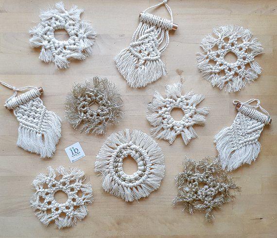 Macrame Christmas Ornament