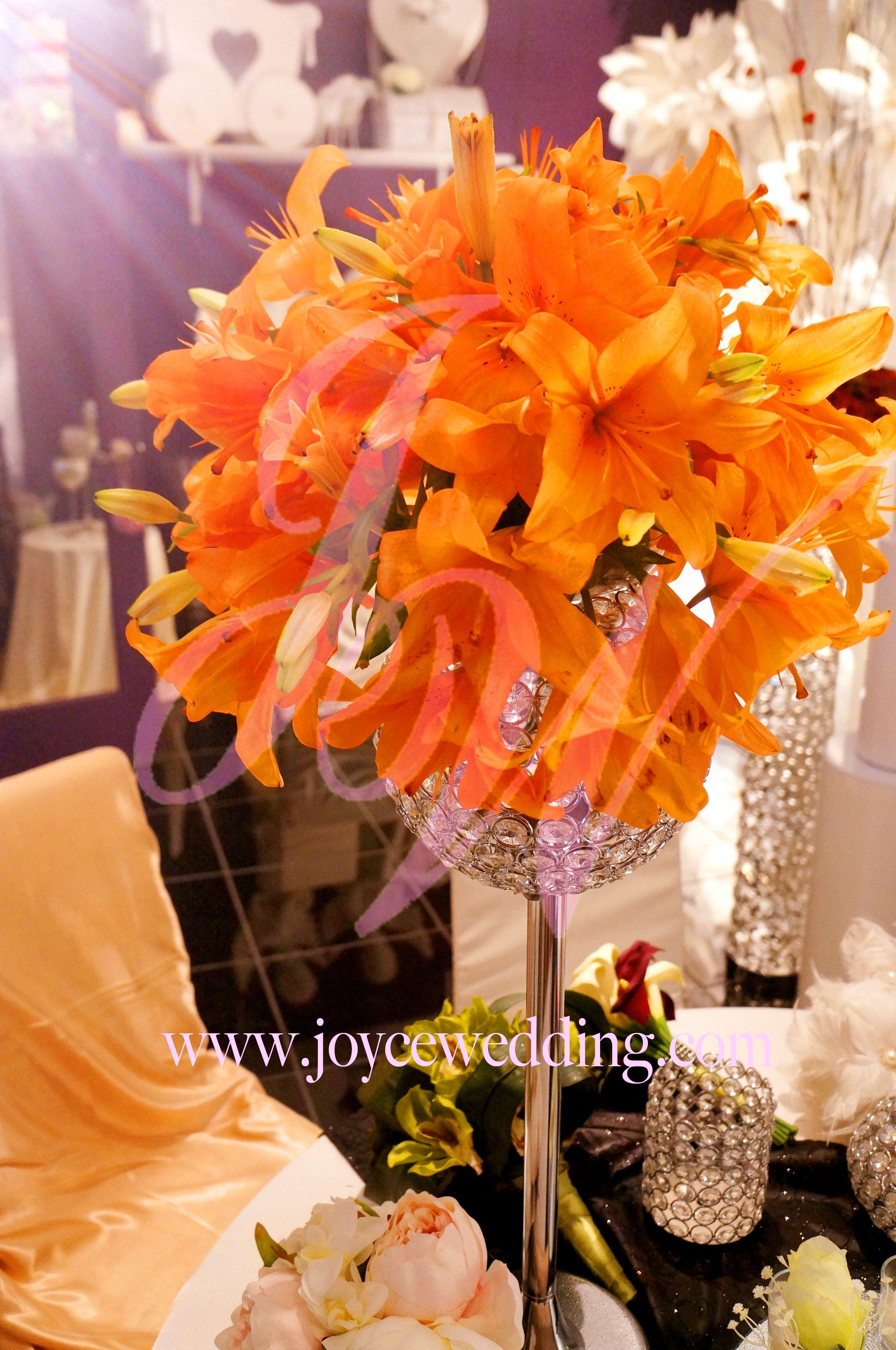 Wedding centerpieces asian theme images wedding dress decoration orange asian lily centerpiece asian lilies lily centerpieces orange asian lily centerpiece junglespirit images junglespirit Image collections