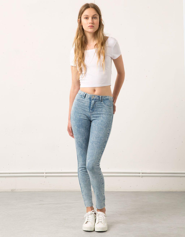 2b2502bf71b1 Super Skinny Mid rise jeans Bershka - Jeans - Bershka Macedonia