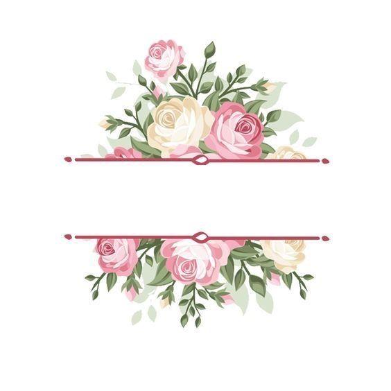 Pin By Haneen On Bb Floral Border Design Flower Frame Flower Background Wallpaper
