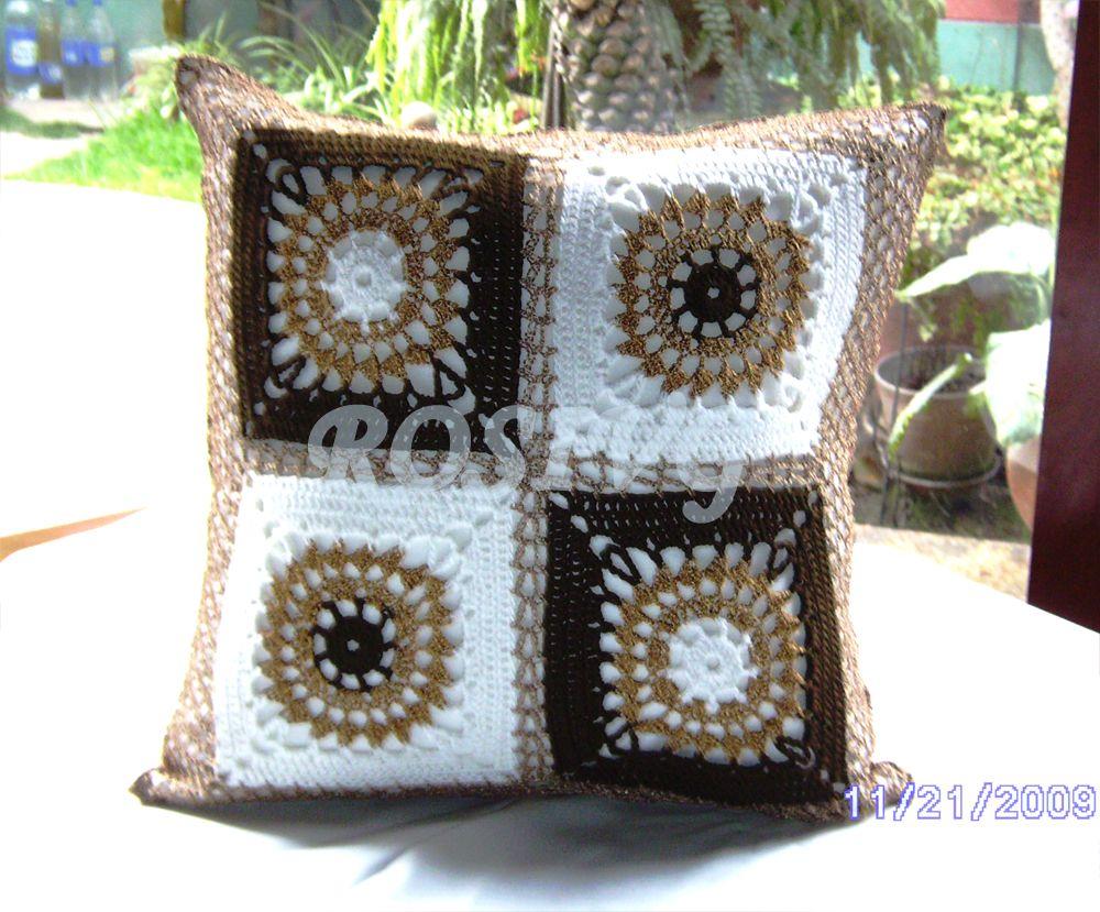 6ec217e91 WHAT A PRETTY PILLOW** Image detail for -Funda cojin a crochet en ...