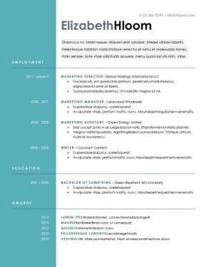 Top 10 Best Resume Templates Ever Free For Microsoft Word Good