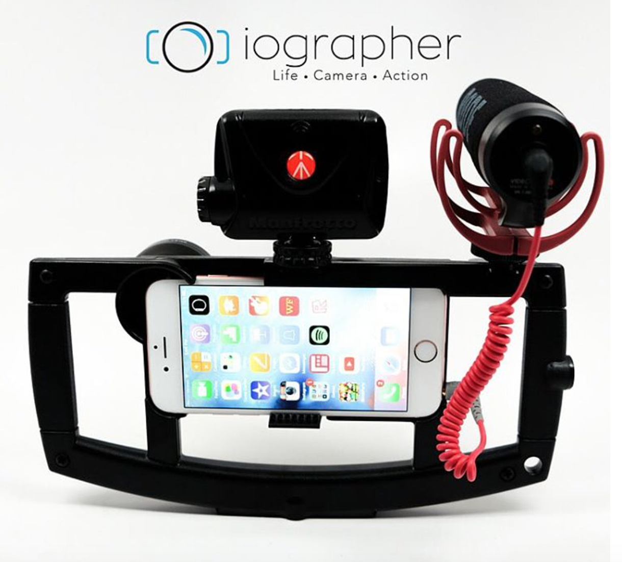 iOgrapher for iPhone 6 and 6 PLUS! Hook up a mic, light