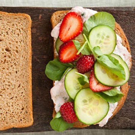 Healthy Vegetarian Sandwich Saludable sandwich vegetariano
