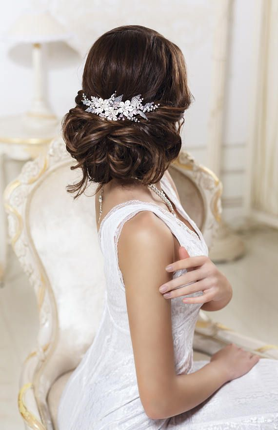 Bridal hair comb Rhinestone hair comb Crystal hair comb Bridal hair ...