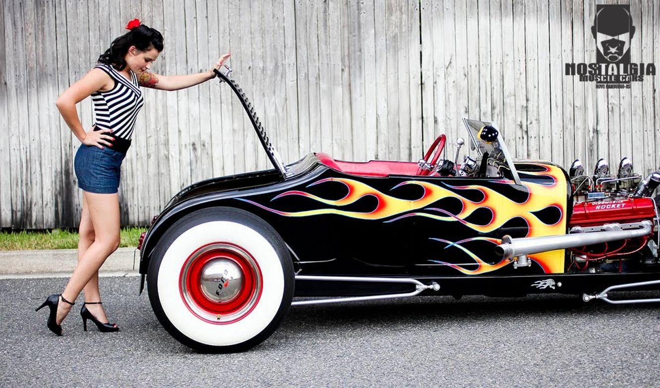 hot rod and pin up hot rods and pin ups pinterest voiture voiture fille et pin up vintage. Black Bedroom Furniture Sets. Home Design Ideas