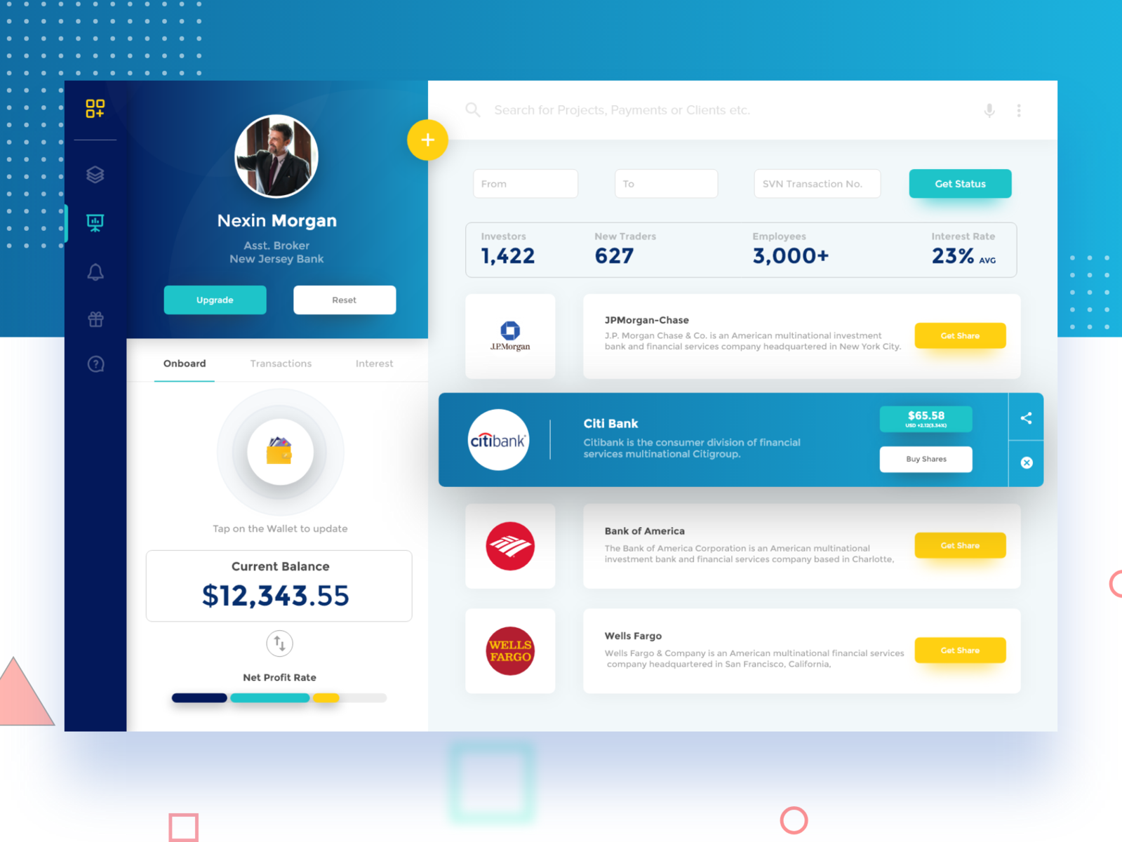 Trading And Banking Dashboard Minimal And Clean Concept Dashboard Design Web App Design Responsive Web Design Inspiration