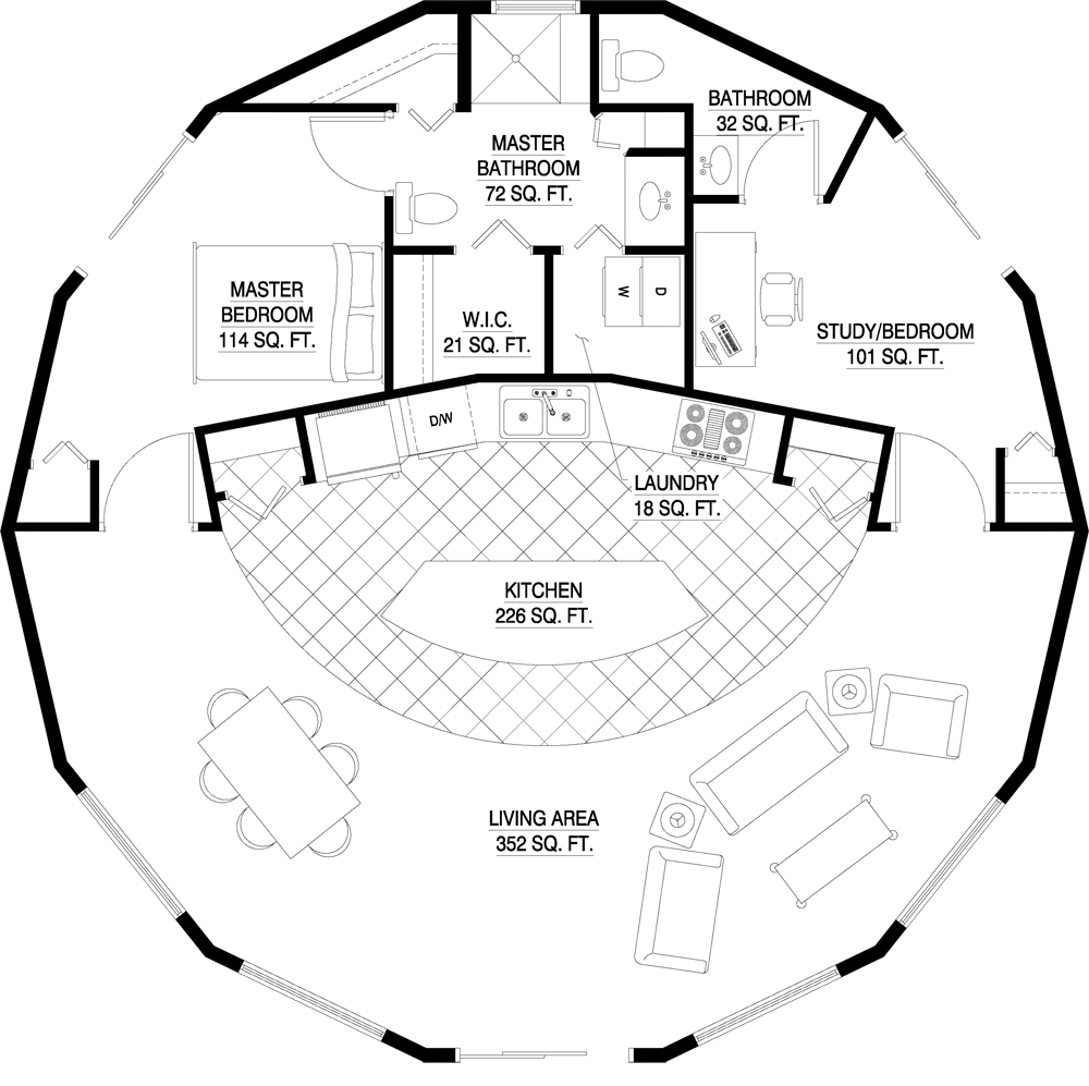 Deltec Homes Floorplan Gallery Round Floorplans Custom