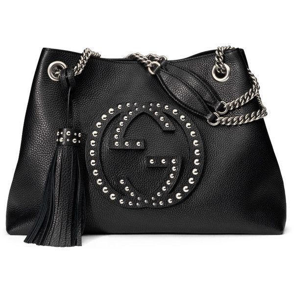 2f11eba495a9c3 Gucci Soho Chain-Strap Studded Leather Shoulder Bag (7
